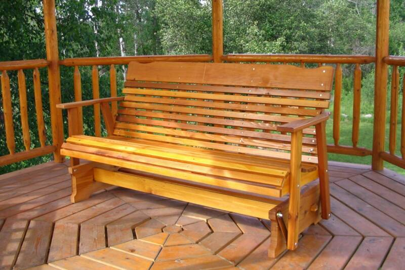 Cedar Glider   Amish Furniture