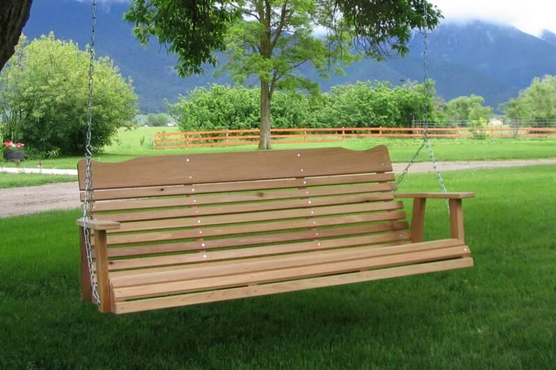 Cedar Outdoor Furniture Cedar Swing Outdoor Glider