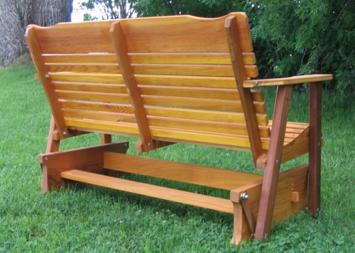 cedar porch glider amish crafted - Porch Gliders