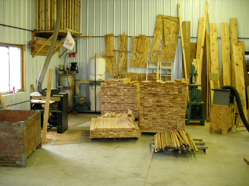 These Are A Few Photos Of The Amish Workshop Which Make The Furniture And  Ships Directly To You.The Cedar Furniture Is Manufactured All Year Round  And ...
