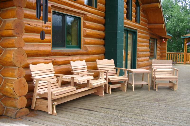 cedar outdoor lawn furniture amish wood craftsmanship